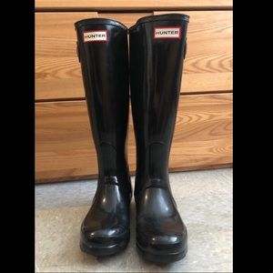 Original Glossed Black HUNTER Tall Boots